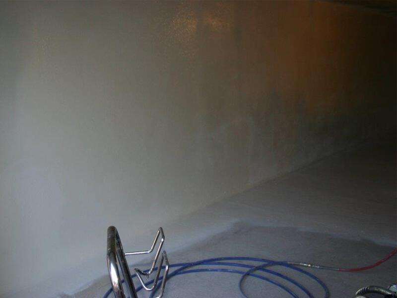 phase finale application de résine epoxy