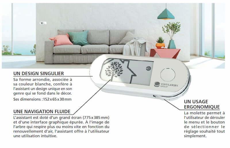 système ventilation purevent vision r ventilairsec telecommande application android